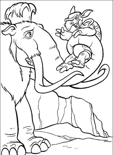ice age coloring pages | Cartoon | Pinterest | Ice age, Disney ...