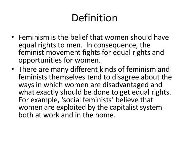 Essay feminist movement