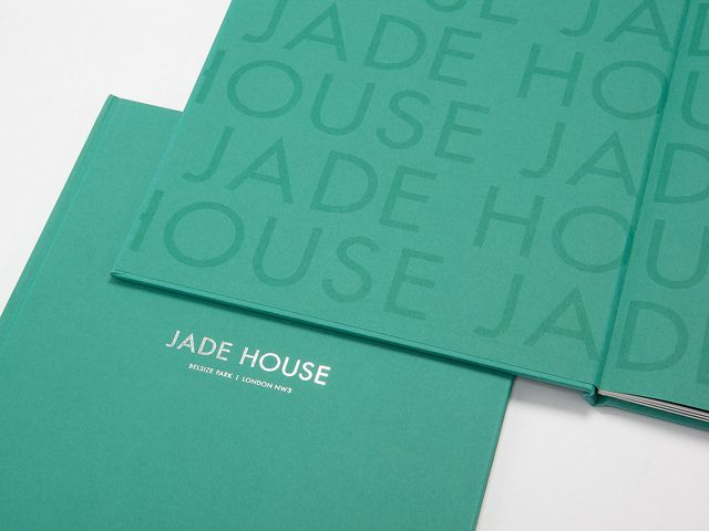 Jade House Brochure \u2014 Endpapers Endpapers printed with one spot - emerald flyer template