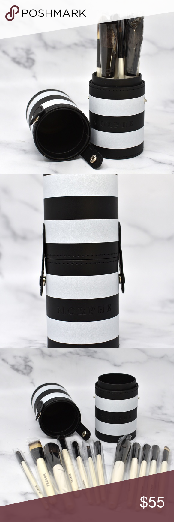 MORPHE BLACK AND WHITE 12PIECE TRAVEL SET COLLECTION