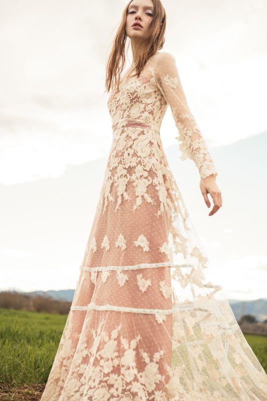modelo lorena vestido de novia de encaje guipur espalda destapada