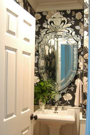 Wallpaper bathroom.