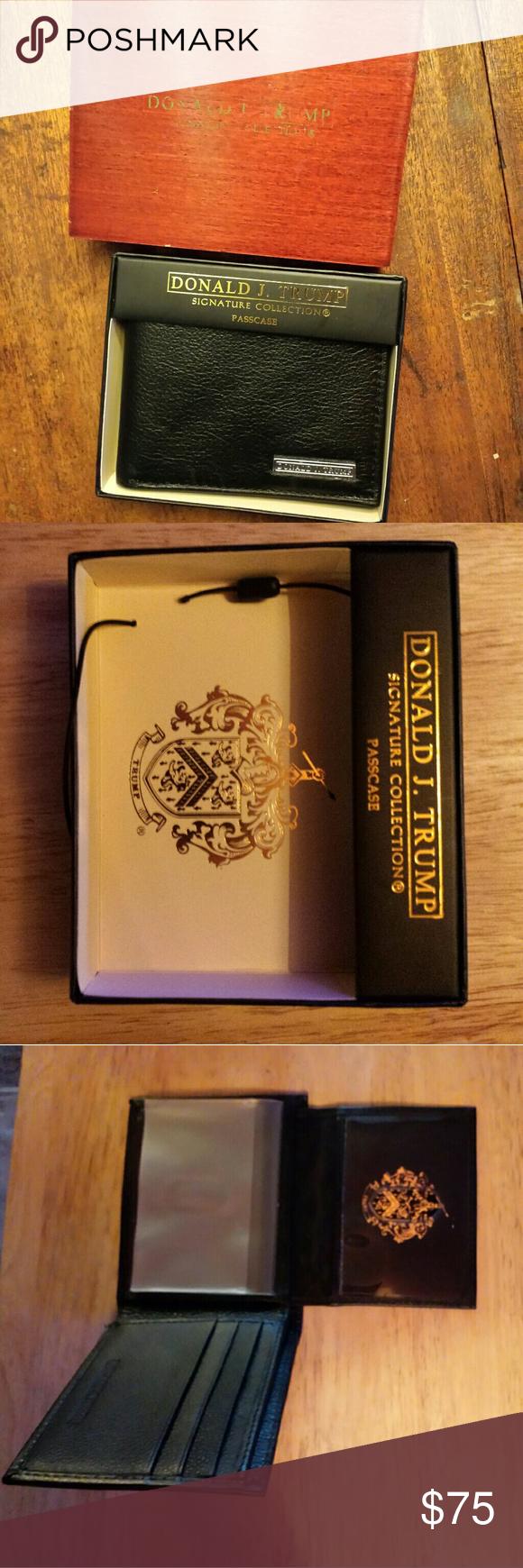 Donald J Trump Signature Collection Passcase Rare Signature Collection Signature Collectable Items