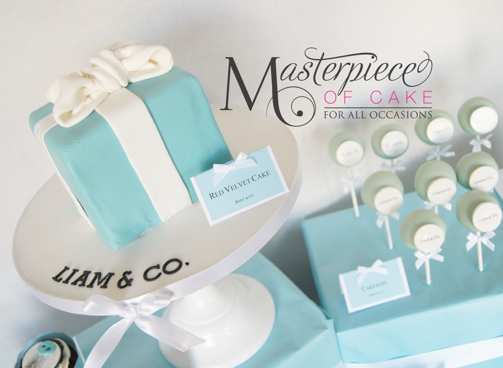 Tiffany & Co inspired baby shower dessert/sweet table. Tiffany and ...
