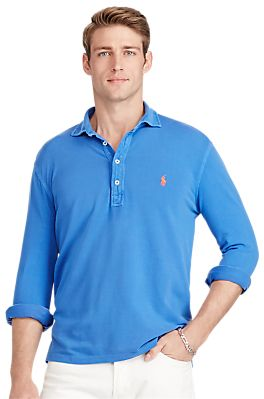 Polo Ralph Lauren Custom Fit Long Sleeve Polo Shirt  4799e58190cff