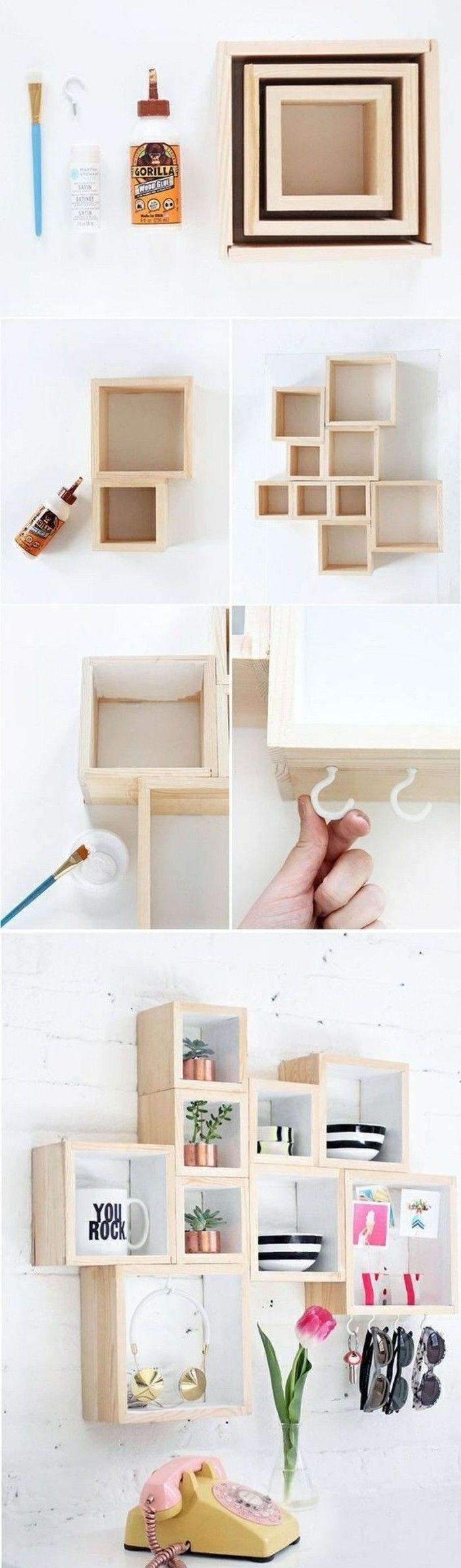 diy moebel kreative wohnideen regale aus holz montieren | DIY Ideen ...