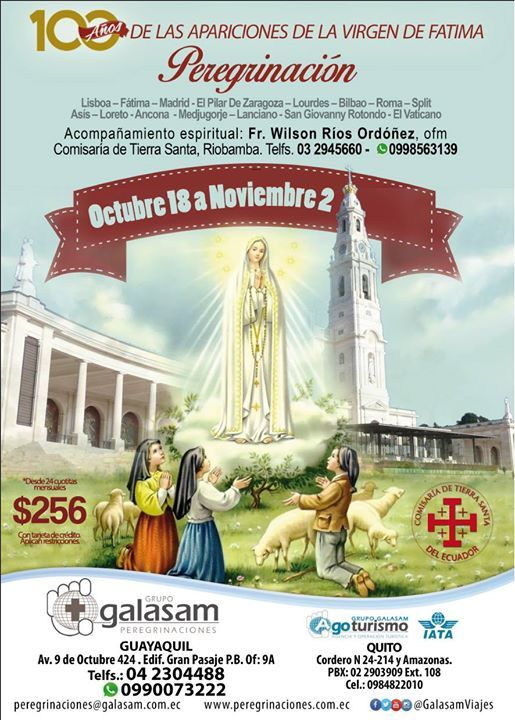 La Mas Completa Peregrinacion Catolica Santuarios De Europa Fatima