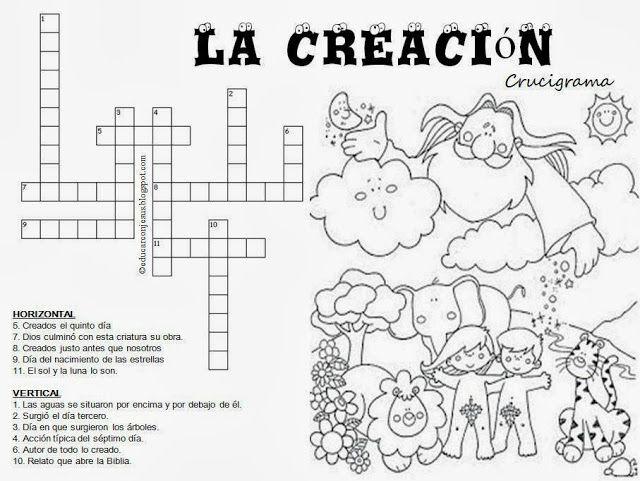 Educar Con Jesus La Creacion En Un Cruce De Caminos La Creacion Para Ninos Actividades De La Biblia Biblia Para Ninos