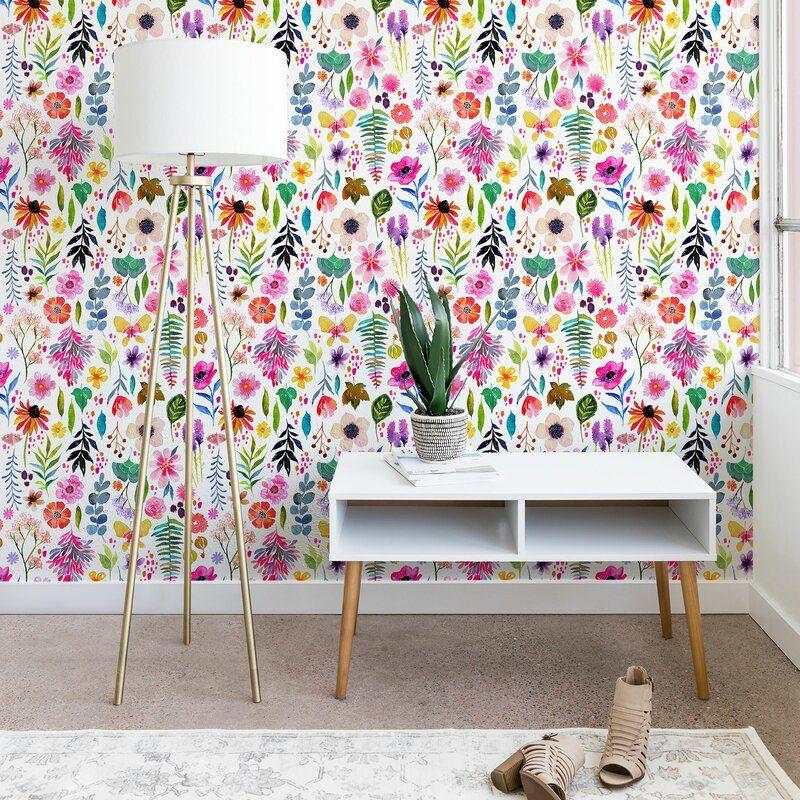 Stephanie Corfee Garden Baby Peel And Stick Wallpaper Panel Allmodern Baby Wallpaper Peel And Stick Wallpaper Wallpaper Panels