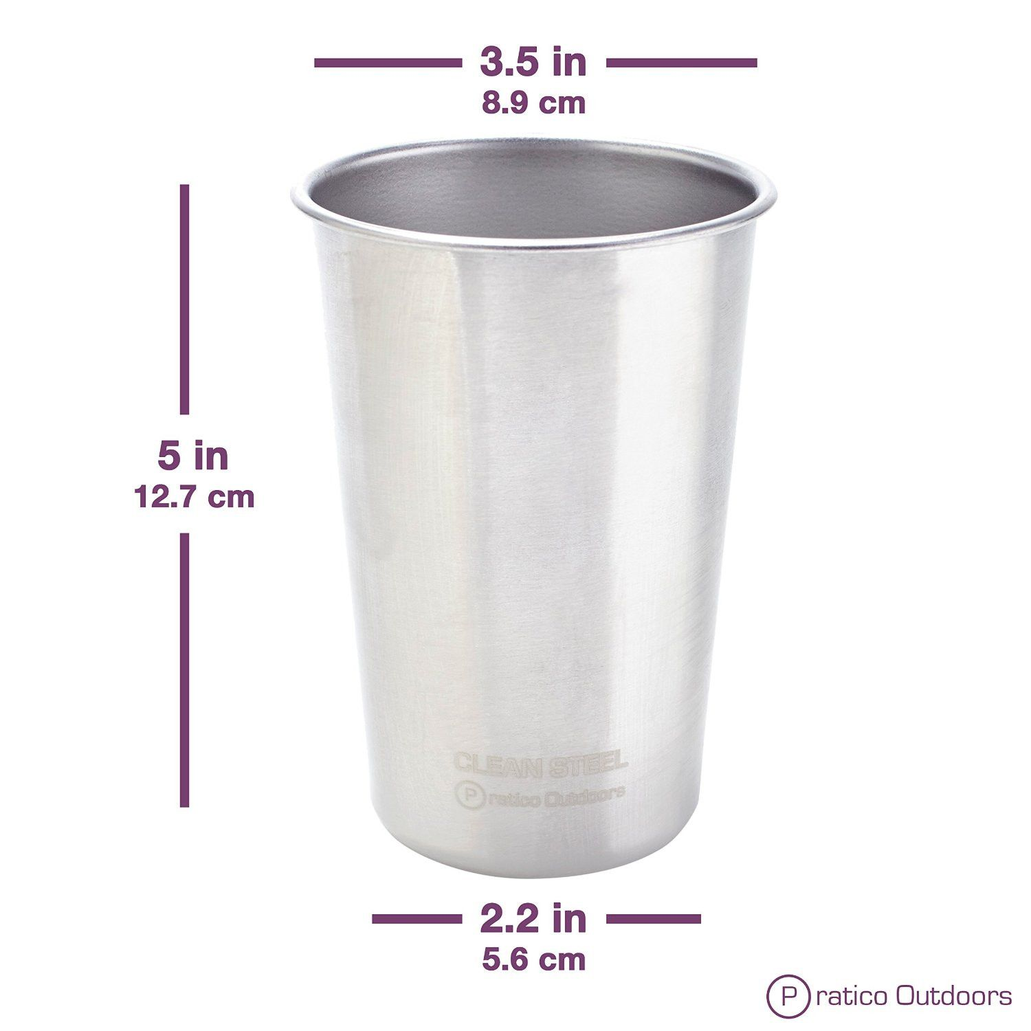 Stainless Steel Cups 14 5 Oz 4 Pack Stainless Steel Cups Steel Stainless Steel Tumblers