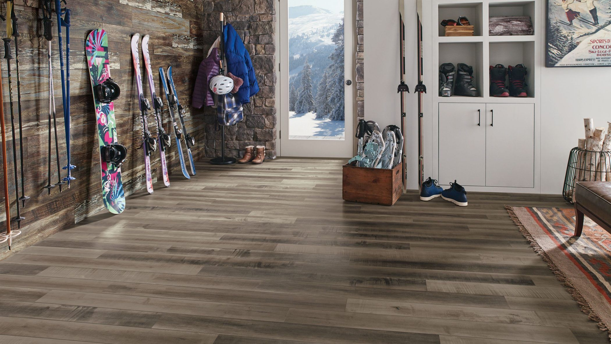 Make sure your floors can hold up to snowy boots and