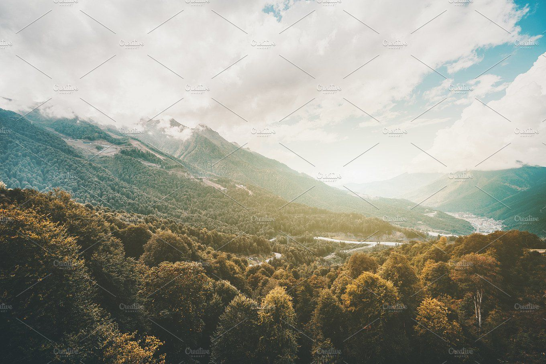 Dramatic Mountain Landscape Mountain Landscape Landscape Scenery
