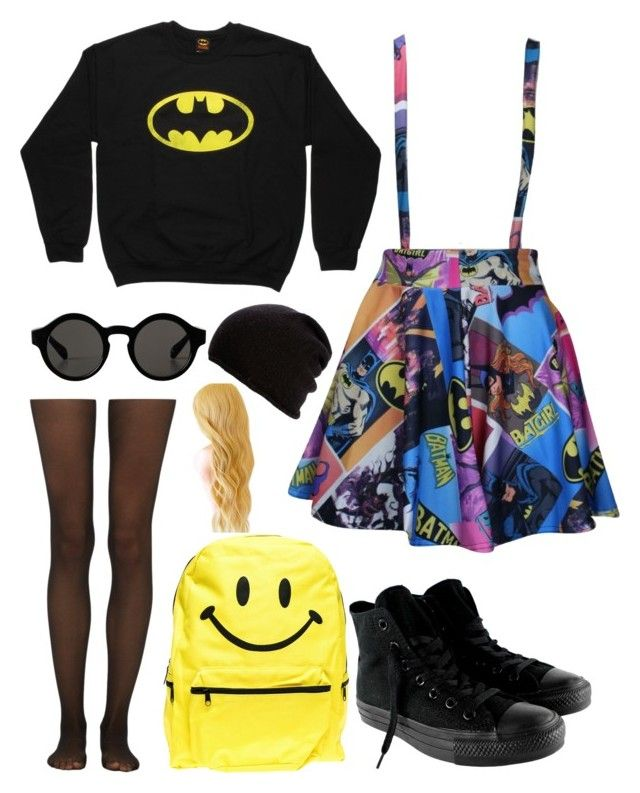 """""""Untitled #47"""" by amethyst0818 ❤ liked on Polyvore featuring moda, Converse, Hollywood Mirror, Monki, Belmondo y Fogal"""