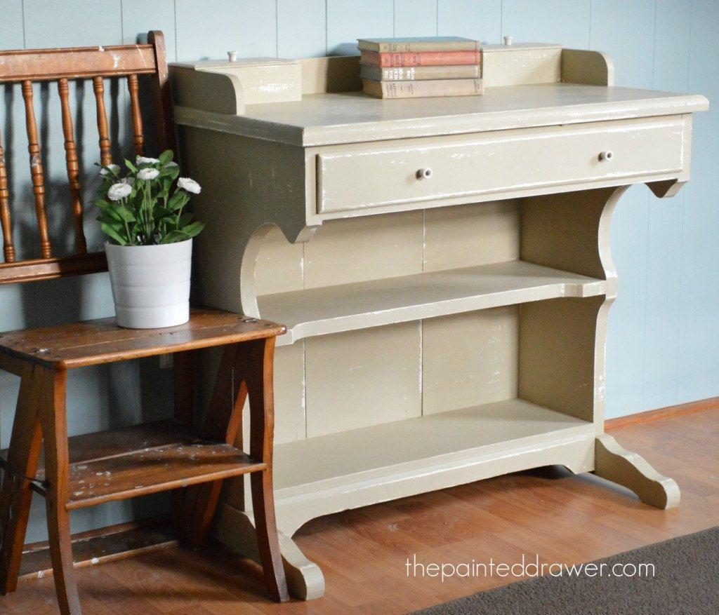 Farmhouse Millstone Desk by ThePaintedDrawer on Etsy