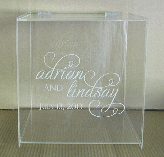 Personalized Wedding Card Box With Lock Money Box Unique Card