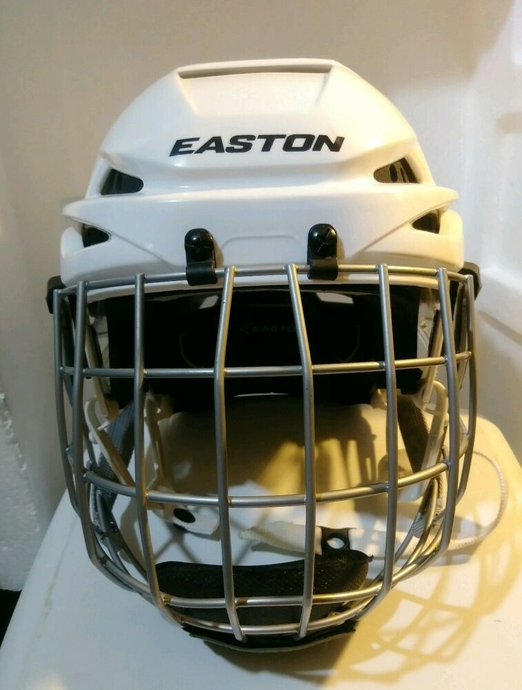 Easton e400 hockey helmet small white with e500fm sp face