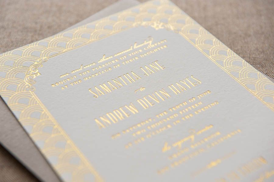 foiled invitations wellesley foiled wedding invitation foil