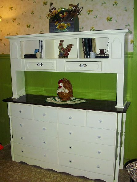 How I Re Purposed A Bookcase Headboard Into Keepsake Hutch Painted Furniture Repurposing Upcycling