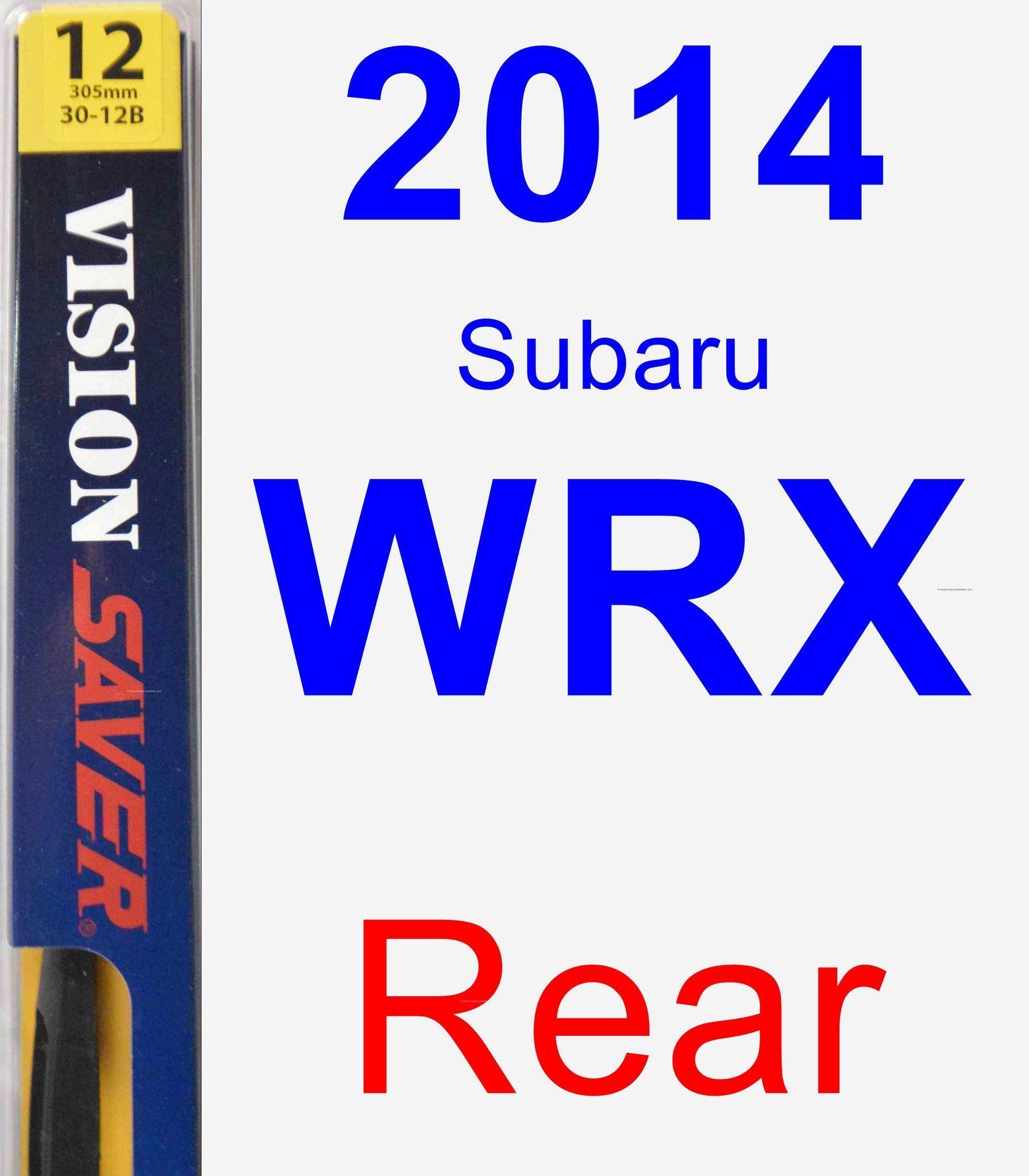Rear Wiper Blade For 2014 Subaru WRX - Rear