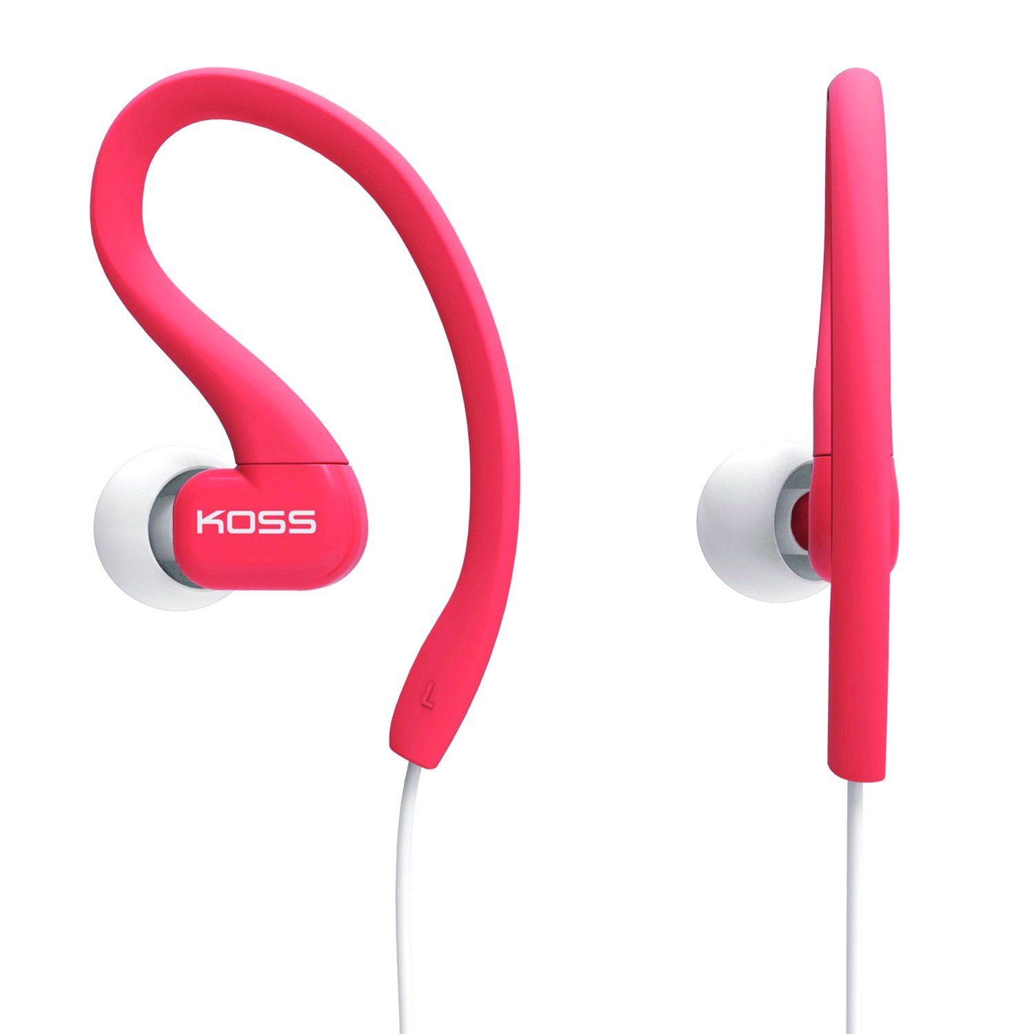 Koss KSC32C Fitclips Headphones, Coral