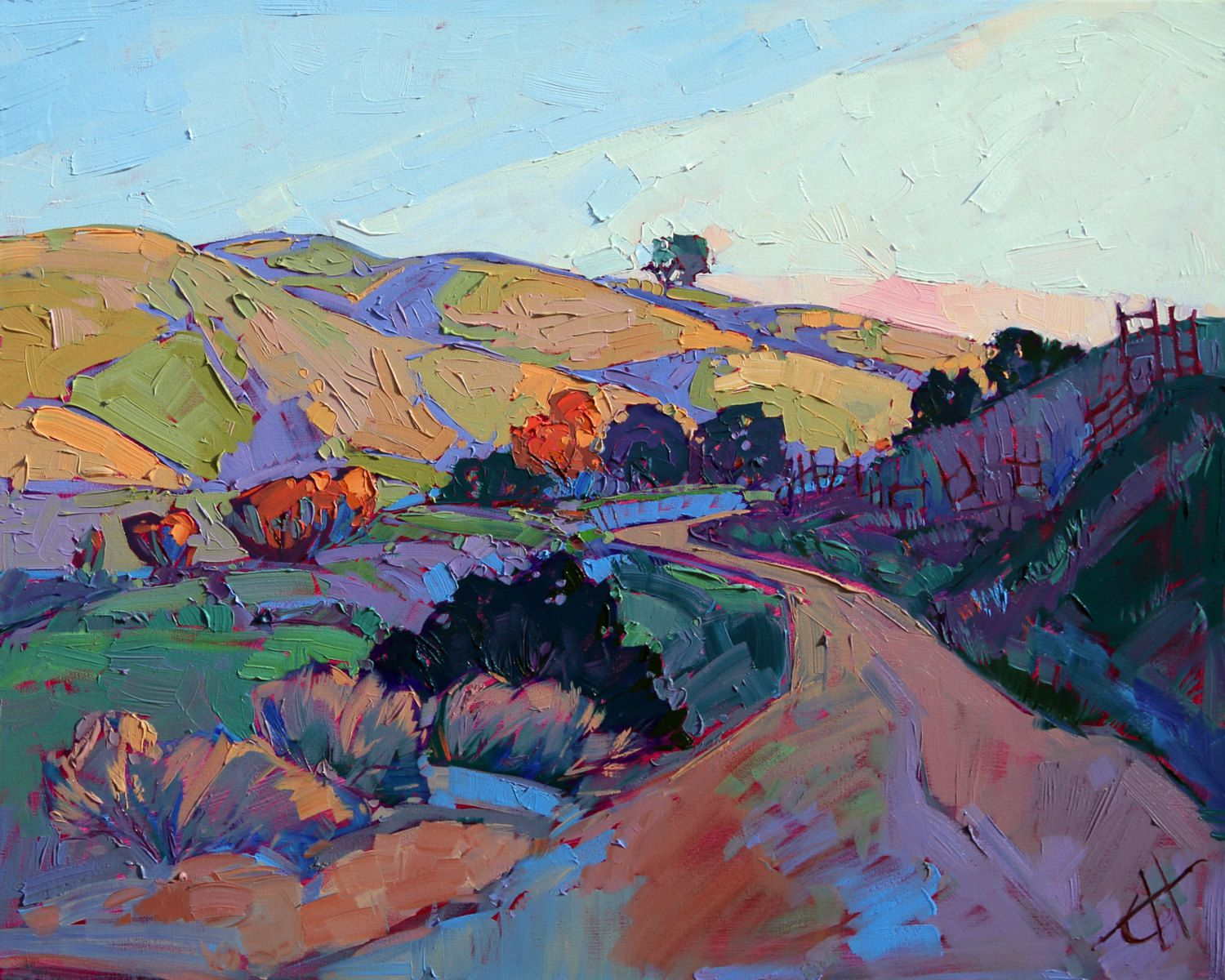 Wine Country Paso Robles Landscape California Impressionism Original Oil Painting Via Etsy Landscape Paintings Art Oil Painting