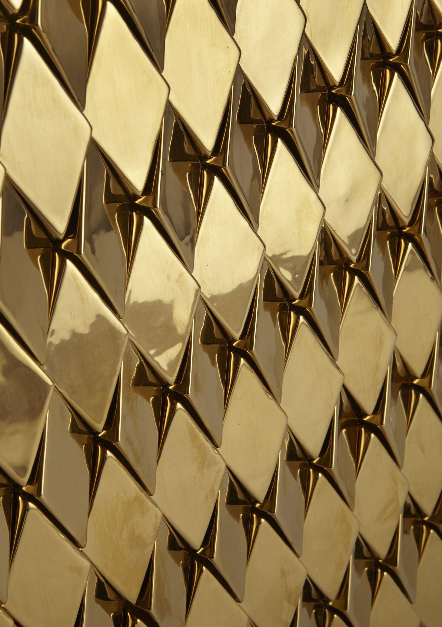 Bespoke Global Product Detail Wellington High Gloss Metallic Gold Tile Shades Of Gold Surface Design