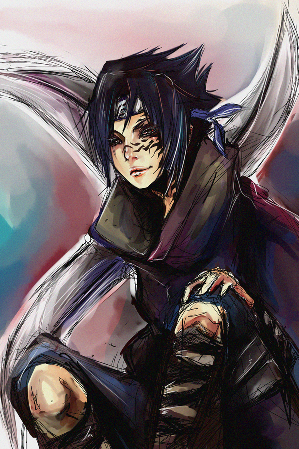 young sasuke, I really love these paintings!