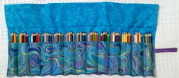 Extra Large Colored Pencil Roll Rollup for by BettyAldermanDesigns