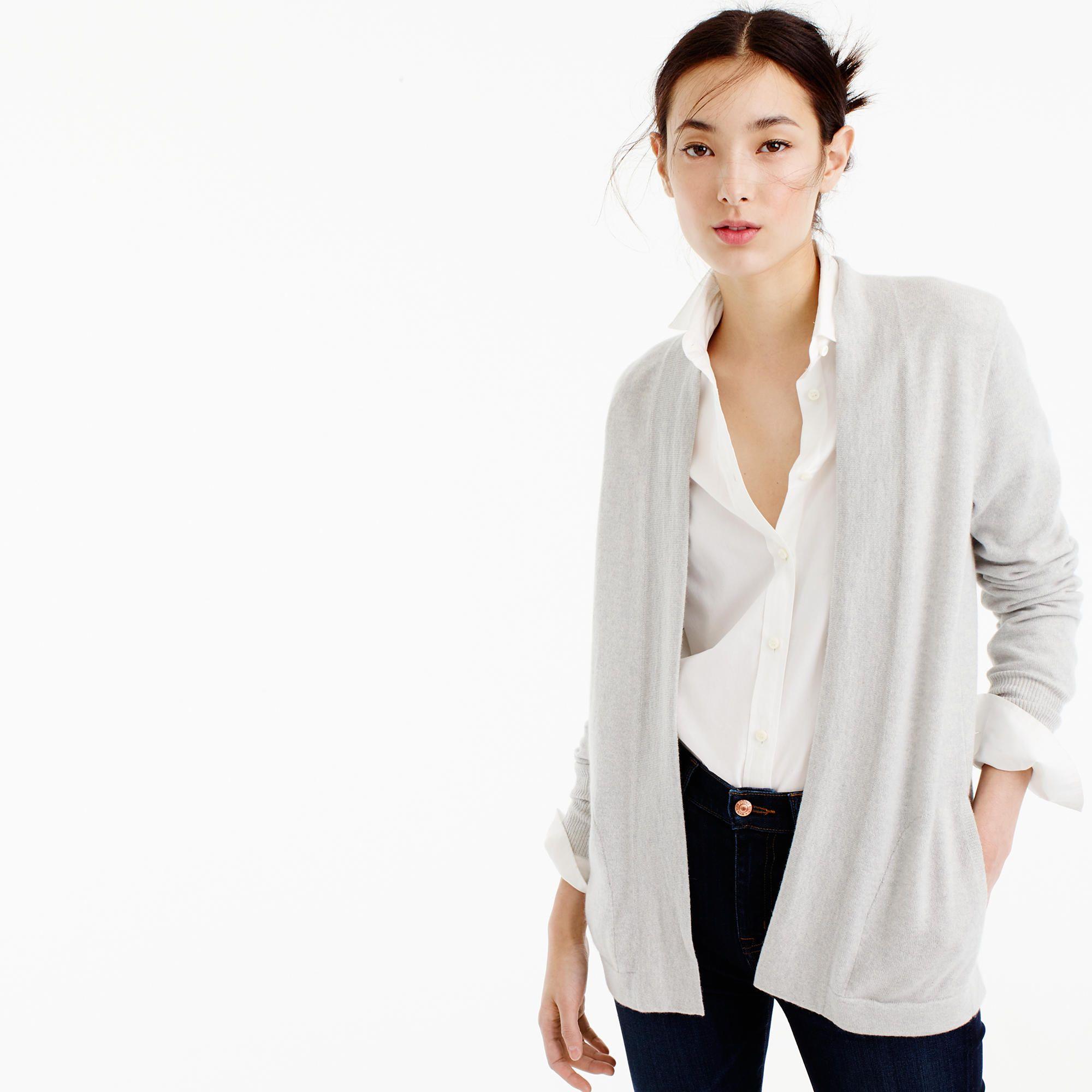 Italian cashmere long open cardigan sweater | Sweaters | Pinterest ...