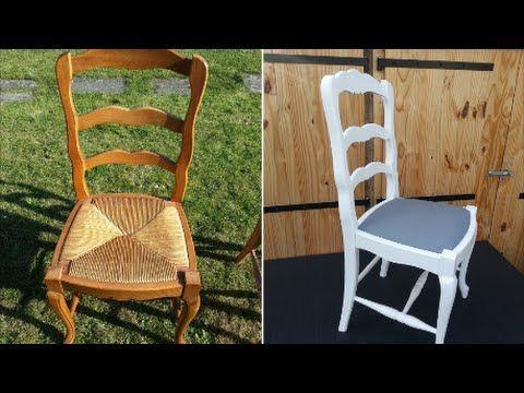 Moderniser une chaise de type Louis XV en chêne et paille - YouTube - maison bois et paille