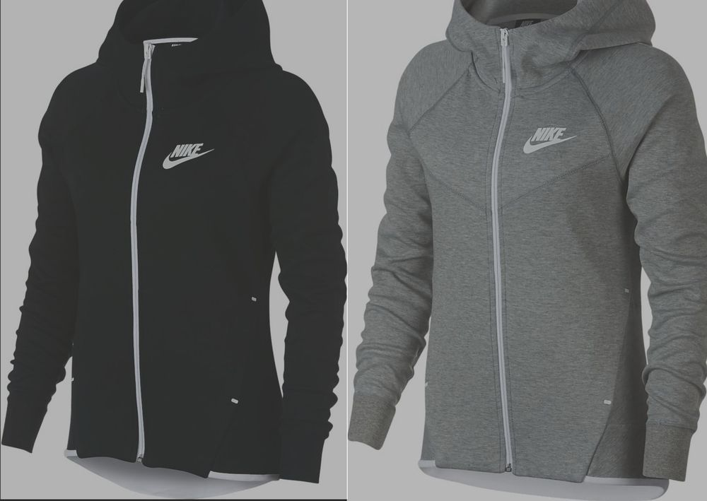 3725b79bff9f Nike women s tech fleece Windrunner 930759-011 full zip hoodie black grey XS  M  Nike  Hoodie