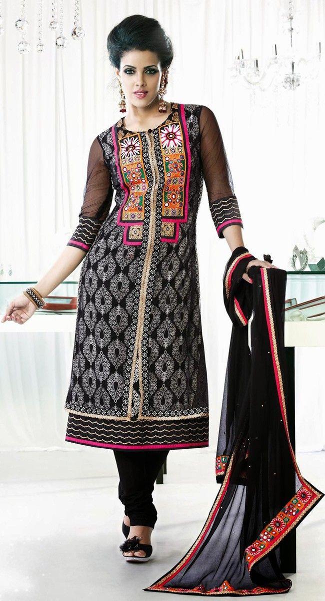 Exotic Jet Black Salwar Kameez | Punjabi suit | Pinterest