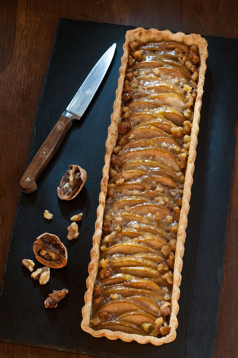 Thinly sliced pears scented with vanilla, crystallized ginger, and a pinch  of cinnamon baked in a buttery crust, this simple tart tastes especially  good when served warm with a scoop of vanilla ice cream.  This recipe makes one 9 inch round tart, or a 4 x 14 inch rectangular tart.    Start