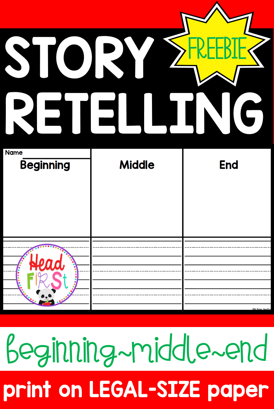 Story Retelling Freebie Beginning Middle End First Grade Activities First Grade Lessons Beginning Middle End [ 1402 x 941 Pixel ]
