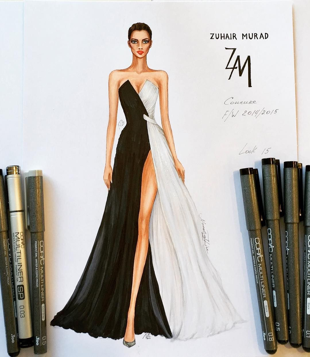 Nataliazorinliu Fashion Sketches Pinterest Luxury