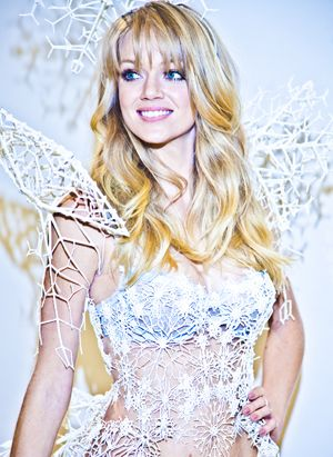 Victoria's Secret partnered with the 3-D printing gurus at Shapeways and Swarovski Crystal to craft a winter-themed pair of wings