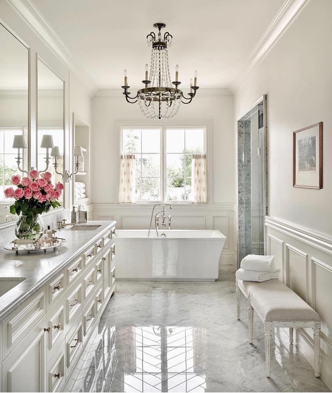 White Bathroom Ideas in 2020 | White master bathroom ...