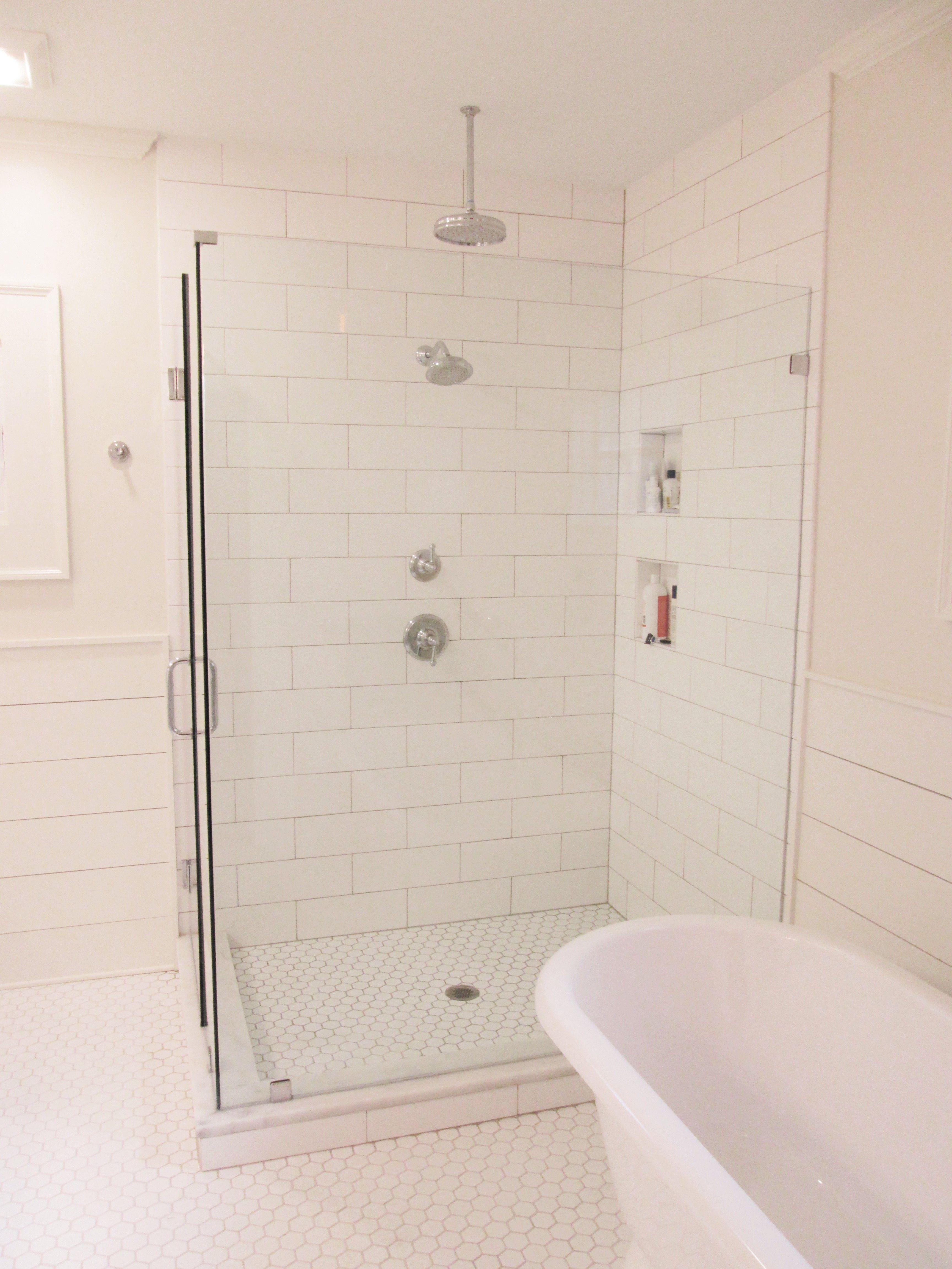 Frameless Shower Enclosure As Part Of Master Bathroom Renovation By Penn  Carpentry, Atlanta General Contractor