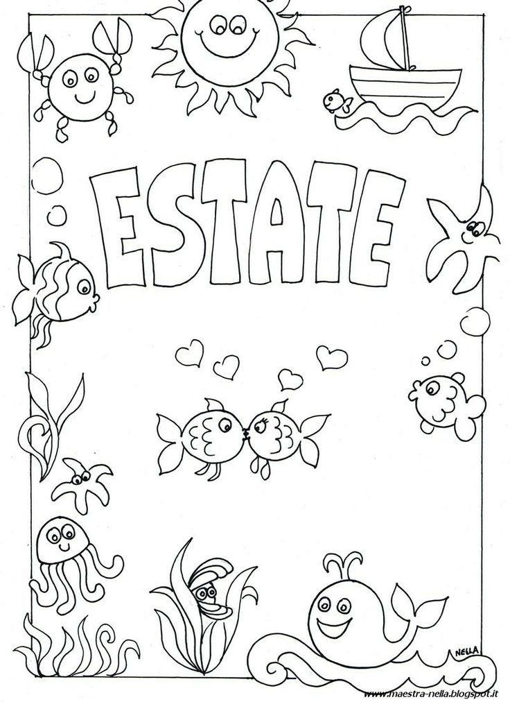 disegni da colorare estate infanzia