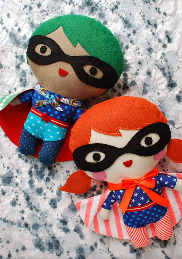 Super Hero Soft Toy FREE pattern and tutorial by Lisa Tilse via http ...