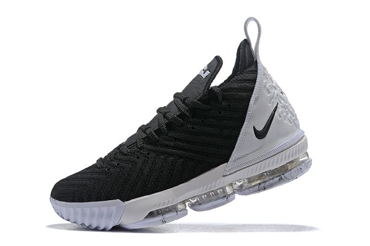 fc2ed44f057 Nike LeBron 16 Black White Basketball Shoes For Sale