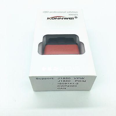 New ELM327 KW903 Bluetooth ODB2 OBDII Car Auto Fault Diagnostic Scanner Tool 9