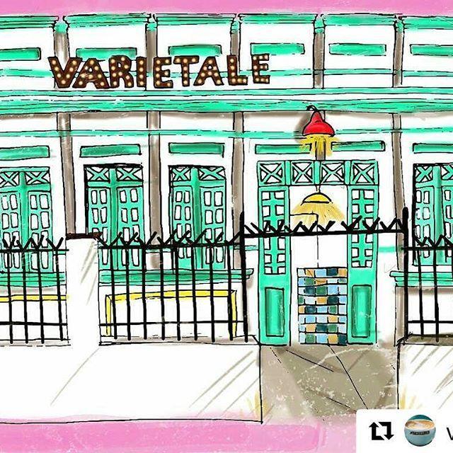 🤗 #Repost @varietale with @repostapp  ・・・  😍 nuestra fachada convertida en arte gracias a @nat.alie.03  quedo espectacular!! ❤✌🏼☕
