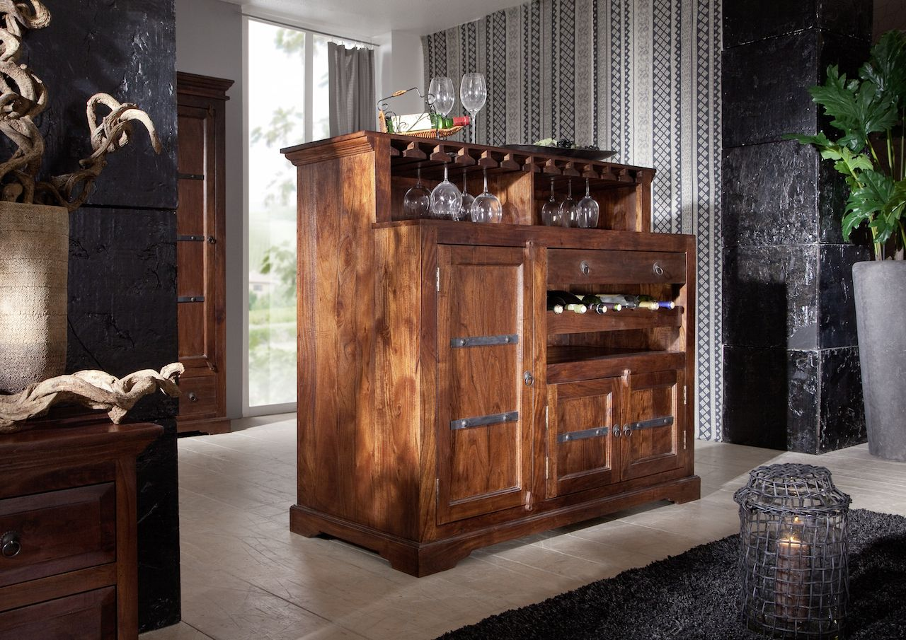 oxford weinkommode akazie nougat von massivmoebel24. Black Bedroom Furniture Sets. Home Design Ideas