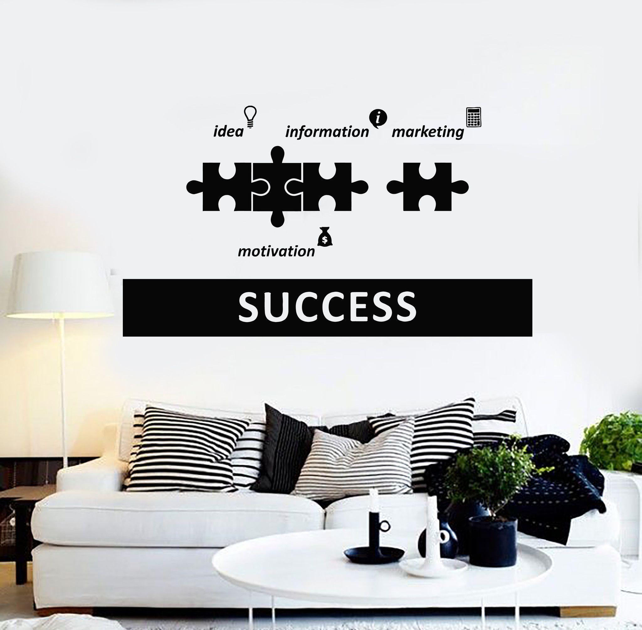 9e2c22e8b93 Vinyl Wall Decal Success Office Decoration Motivation Stickers (ig4385)