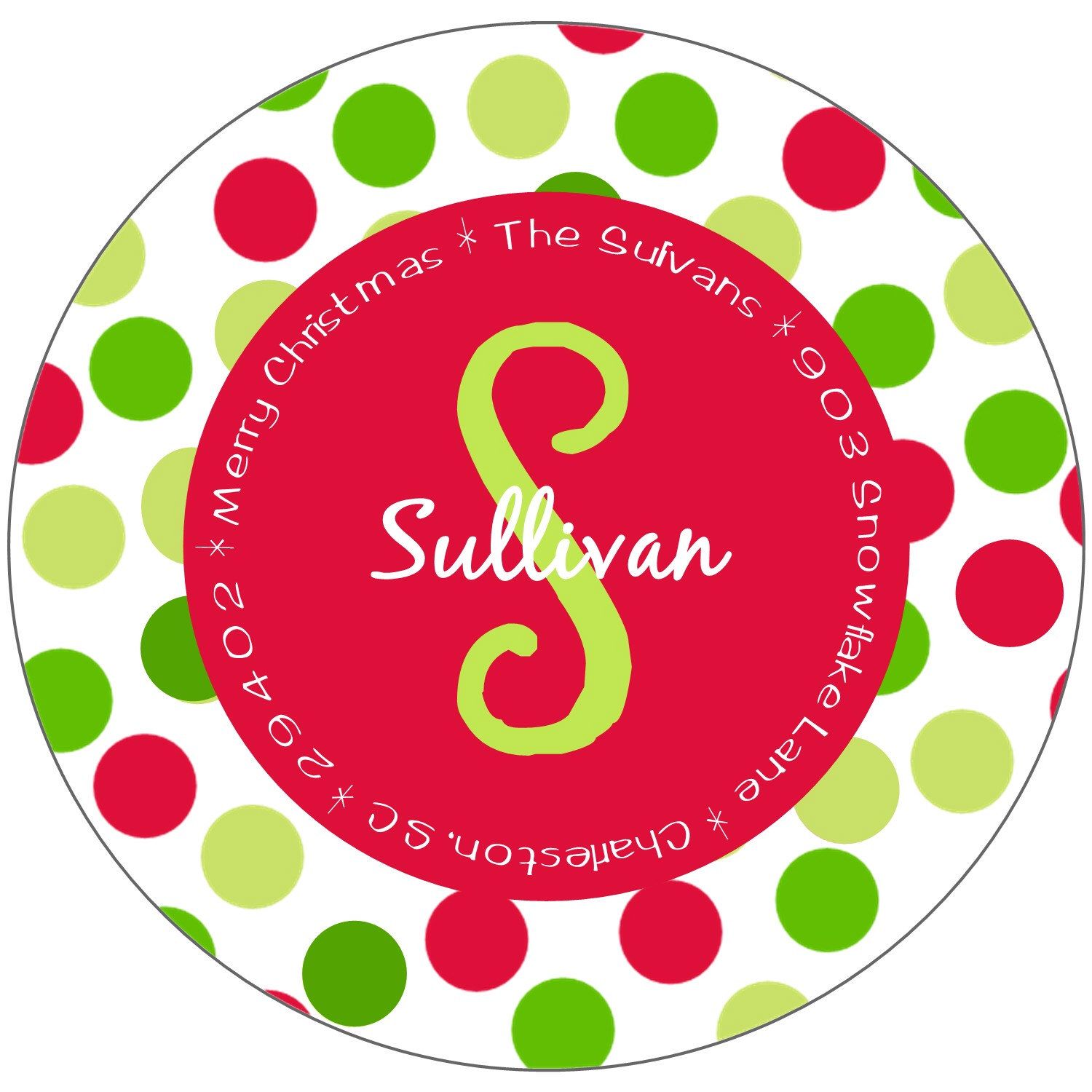 christmas address labels stickers round by stickerchic on etsy https