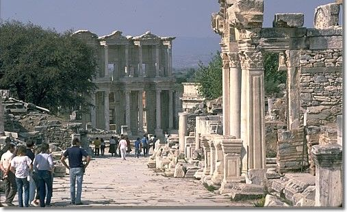 the ancient city Ephesus in Turkey. One of the most impressive places to see because of how intact much of it is. It's been dug out of the ground and more digging remains to be done. It give a great impression of what the city looked like a long time ago.