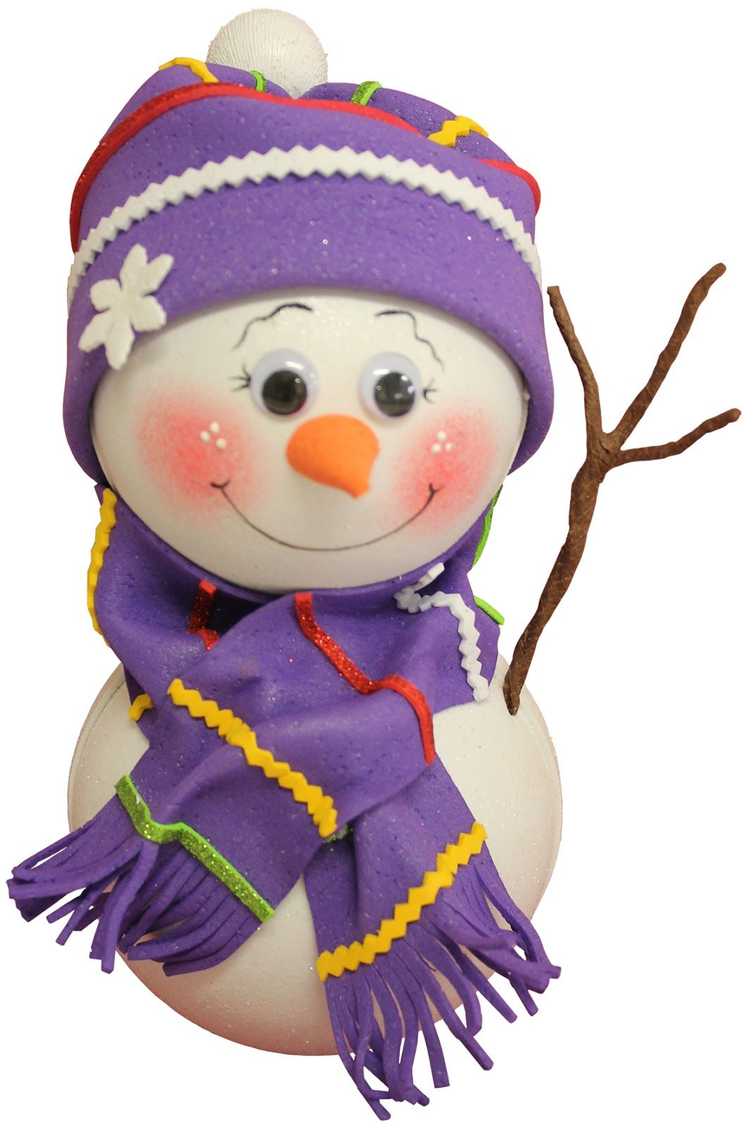 Mundos violetas mu ecos de nieve foamy gomaeva - Munecos de navidad ...