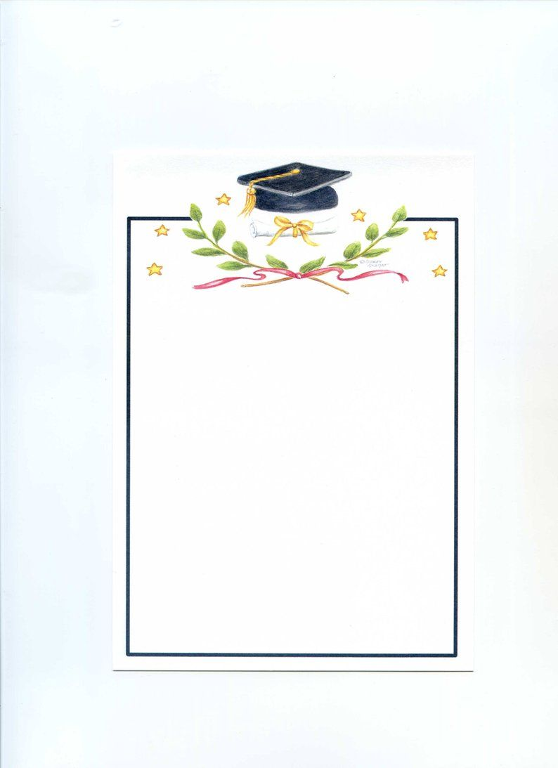 Photo of Classic Graduation Invitations Victory Emblem Flat Blank Box of 10 by Audrey Ascenzo