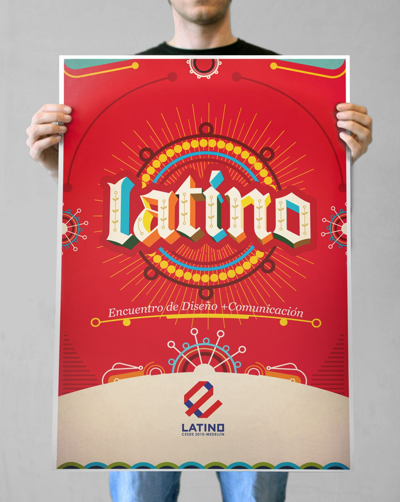 Rich Almost Vibrating Color Combination Mexican Graphic Design Lettering Design Graphic Print Poster